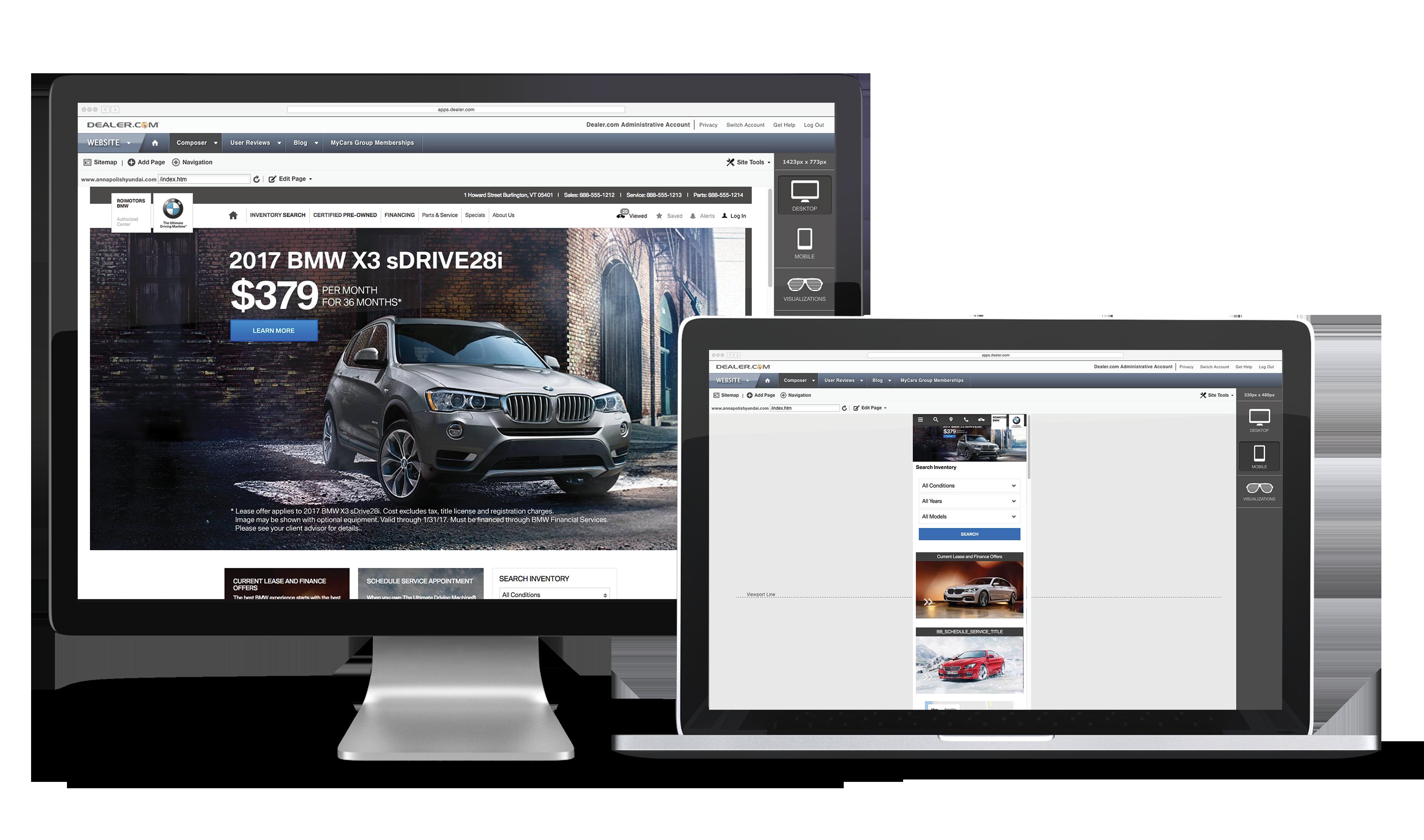 Dealer.com BMW Websites Centralized Control