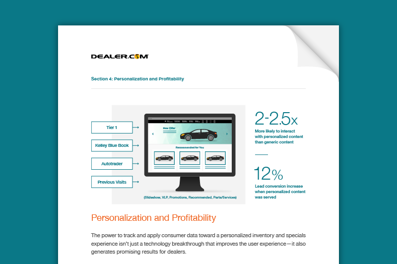 Discover how to put the right car and the right offer in front of the right shopper with personalization.